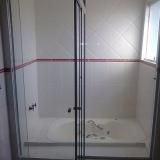 box de vidro incolor para banheiro orçar Amparo