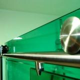 box de vidro verde para banheiro Jardim Baronesa