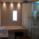 box para banheiro sanfonado de vidro Jardim Planalto
