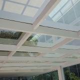 cobertura de garagem de vidro Jaguariúna