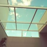 cobertura de vidro laminado Jardim do Lago II