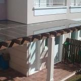 cobertura de vidro para área externa Jardim Monte Belo I