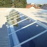 cobertura de vidro para pergolado Jardim Tamoio
