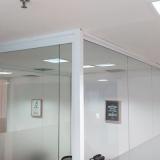 divisória de vidro escritório valor Swiss Park