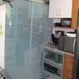 divisória de vidro para sala de estar Jardim Nova Mercedes