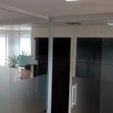 divisória vidro escritório Morungaba