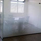 divisória vidro temperado Parque Via Norte