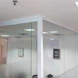 divisórias vidro temperados Parque Via Norte