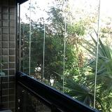 fechamento de sacada em vidro de correr orçar Vila Aurocan