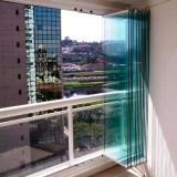 fechamento de sacada vidro Jardim Nova América
