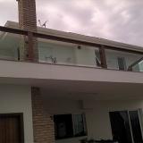 guarda corpo de vidro para varanda Vila Lemos