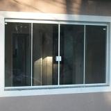 janela para cozinha de vidro Jardim do Lago II