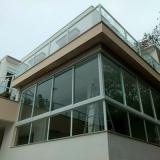 loja de guarda corpo de vidro sacada Parque dos Cisnes