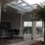 porta de vidro para sala Vila Aurocan