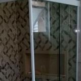 valor de box para banheiro sanfonado de vidro Jardim Paranapanema